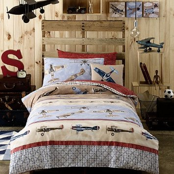 Super-cute Aeroplane Bed Set