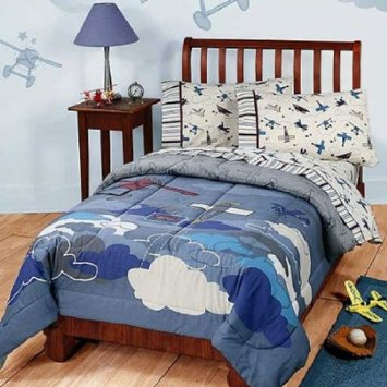 Cool Biplanes Bedding