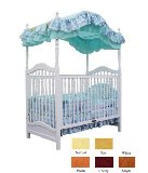 AFG Baby Furniture 6055N Canopy Crib - Natural