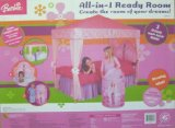 BARBIE All In One Ready Room BEDROOM SET: Includes Bed Canopy