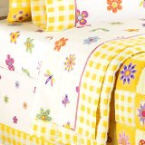 Flowerland Twin Size 100% Cotton Sheets by Olive Kids