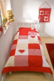 Snuggle Sac Country Heart Twin Bedspread