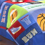 Game On Twin Size Bed Comforter by Olive Kids