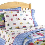 Olive Kids Trains, Planes, & Trucks Sheet Set
