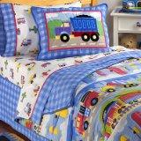 Olive Kids Train, Planes and Trucks Twin Size Hugger Comforter