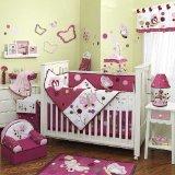 Raspberry Swirl 6 Piece Baby Crib Bedding Set by Lambs & Ivy