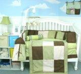 Soho Sage & Brown Suede 10pcs Baby Crib Bedding Set