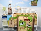 Boutique Safari Jungle Animals 10pcs Crib Bedding SET