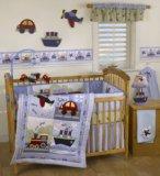 Bedtime Originals Travel Time 4-Piece Baby Crib Bedding Set - Blue