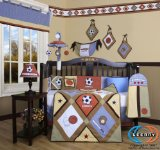 Boutique Brand New GEENNY All-Star Sports Boy 13PCS CRIB BEDDING SET