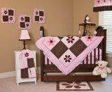 Nursery-To-Go Pam's Petals Bedding 10 Piece Crib Set