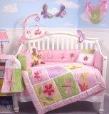 SoHo Butterfly Meadows Crib Nursery Bedding Set 10 pcs **Reversible