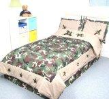 Camouflage Army Boy Twin Kids Childrens Bedding Set 4pcs