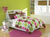 Roxy Pink Brown Aqua Dots Teen Girls Comforter Set 200tc Sheets