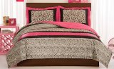 Leopard Love Full / Queen Size Comforter With 2 Shams