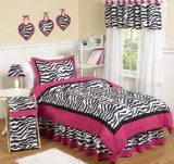 Hot Pink, Black & White Funky Zebra Full / Queen Girls Teen Childrens 3 pc Bedding Set by JoJo Designs