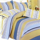Blancho Bedding - [YellowBlue Expression] 100% Cotton Comforter  Cover/Duvet Cover Combo