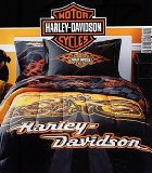 Harley Davidson Motorcycle Bedding Flames 2 Pc Twin Comforter Set