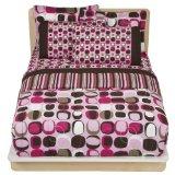 Opus Bed In A Bag Comforter - Pink/Brown