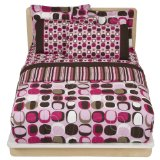 Opus Bed In A Bag Comforter - Pink/Brown