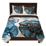 Home Floral Comforter - Aqua/ Brown