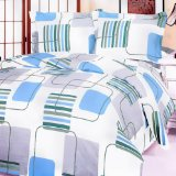 Blancho Bedding - [Blue Fantasy] 100% Cotton Comforter Cover/Duvet  Cover Combo