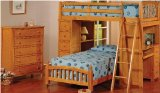 Maxwin International 4568-O Twin Bed Loft Bunkbed Desk Chest Bedroom Arch Headboard