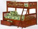 Newport Twin over Full Bunk Bed plus Understorage Unit with Choice of Finishes