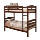 Twin/Twin Wood Bunk Bed - Brown