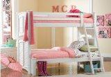 White Shutter HardWood Twin Full Size Bunk Bed