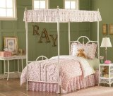 5 pc Full Size Canopy Bedding Bed in a Bag Set - Southern Textiles Delilah Cozy Kids