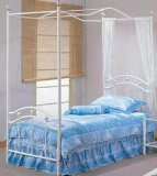 White Twin Princess Bed Frame & Canopy Set