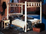 Canopy Twin Cedar Log Bed