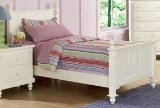 Home Elegance 875TW-1 WHITE TWIN BED