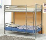 Modern Contemporary Silver Metal Twin Size Bunk Bed