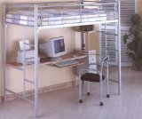 Bunk Bed Work Station with Chair