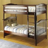 Orbelle Twin Over Twin Bunk Bed, Cherry