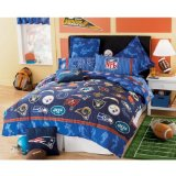 NFL FOOTBALL LOGO 5 PIECE TWIN BEDDING SET, Comforter Sheets Sham