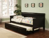 Traditional Style Black Finish Daybed with Trundle