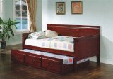 Traditional Style Cherry Finish Daybed with Trundle