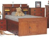 Toffee Full Size Grand Mission Captains Bed with Underbed Chest - Raymond Furniture - BC16GM-F-TOFFEE-SET