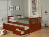Full Size Bed with Trundle - Jake - Powell Furniture - 261-045-TBED