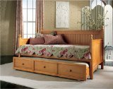 Casey Daybed with Optional Trundle in Maple - Fashion Bed