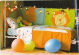 Crib Set. Circus Collection. Eiderdown and Bumper.