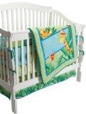 Fisher-Price Rainforest Jungle Stripe 4 Piece Crib Set