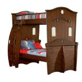 Powell Shiver Me Timbers Wooden Bunk Bed, Twin