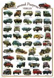General Purpose Vehicles by Unknown. Size 25.67 inches width by 36.88 inches height. High Quality Art Poster Print