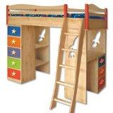 kids rocketship bed
