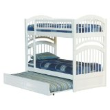 Windsor Twin/Twin Bunk Bed with Trundle Bed - White