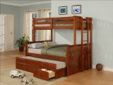 Twin/Full Size Bunk Bed with Trundle- Jake - Powell Furniture - 261-045-BBED-2